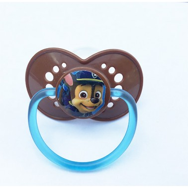 Paw Patrol™® Chase on Adult Size HUGE P2 Chocolate Brown Guard and Top with Sea Foam Transparent Handle - MST7 Teat only