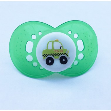 Taxi on Adult Size HUGE P1 Transparent Green Guard, White Top - MST5 Teat only