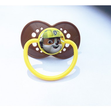 Paw Patrol™® Rubble on Adult Size HUGE P2 Chocolate Brown Guard, Banana Top and Handle - MST5 Teat only